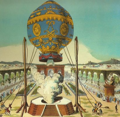 Montgolfier brothers unmanned balloon flight