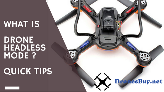 What is headless mode in drones?